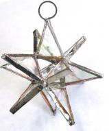 Clear 3 inch Stained Glass Star #93