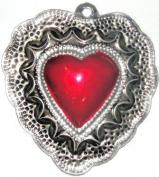 Tin Sacred Heart  Ornament  # 34
