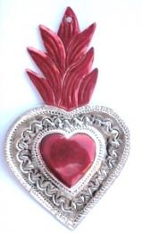 Tin Sacred Heart Ornament # 35