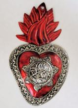 Tin Sacred Heart Ornament  # 38