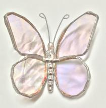 Stained Glass 3 in. Butterfly CLEAR   #202