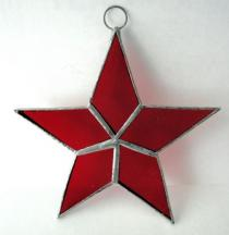Stained Glass Star Red #99