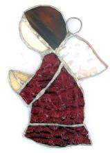 Stained Glass  Praying Angel Red # 241