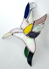 Stained Glass Hummingbird  #253