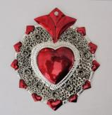 Tin Sacred Heart Tin Ornament # 37