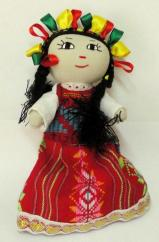 Handmade Mexican Doll 8 inch Red #D2010