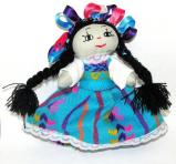 Handmade Mexican Doll 5 inch  Blue #D2020