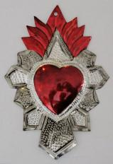Tin Sacred Heart Ornament # 41