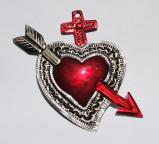 Tin Sacred Heart Ornament # 32