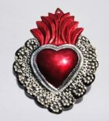 Tin Sacred Heart Ornament # 39