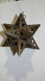 Tin Star Ornament  4 inch
