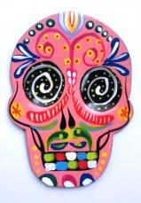 Day of the Dead Magnet   Hand Painted!   PINK