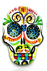 Day of the Dead Magnet   Hand Painted!   WHITE