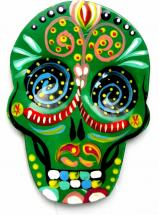Day of the Dead Magnet   Hand Painted!    GREEN