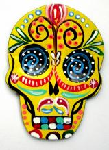 Day of the Dead Magnet   Hand Painted!    YELLOW