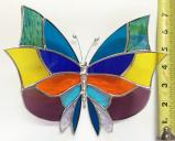 Giant Stained Glass  Butterlfy  Suncatcher # 376