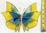 Giant Stained Glass  Butterlfy  Suncatcher # 380
