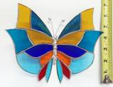 Giant Stained Glass  Butterlfy  Suncatcher # 381