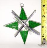 Stained Glass 4 inch Star  GREEN   #63