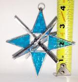 Stained Glass 4 inch Star  LITE  BLUE   #65