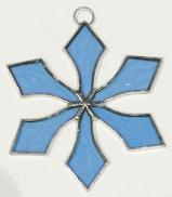 Stained Glass 4 inch SNOWFLAKE TURQUOISE #106