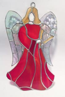 Large Angel   10 inch  RED   #4000