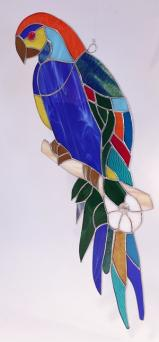 Large Stained Glass PARAKEET - 25 Inches tall!   #SG7000