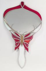 Stained Glass HAND MIRROR Butterfly design SGS5901