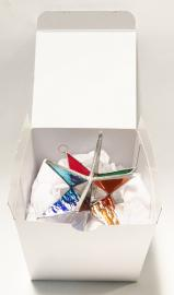 4 inch MULTI COLORED STAR with Glossy White Box    B2009