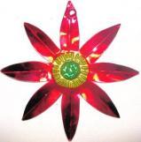 Tin Ornament  Poinsettia  Flat - # 24